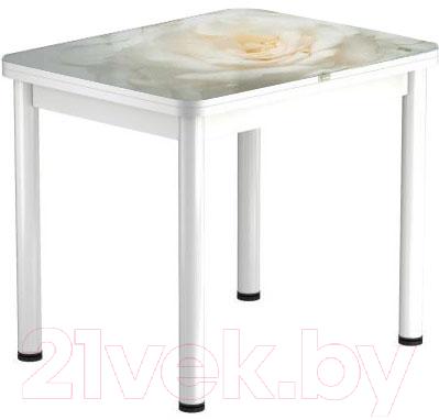 Обеденный стол Васанти Плюс ПРФ 80x60/120 РШ/ОБ (белый/120)