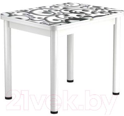 Обеденный стол Васанти Плюс ПРФ 80x60/120 РШ/ОБ (белый/122)