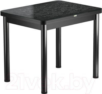 Обеденный стол Васанти Плюс ПРФ 90x70/140 РШ/ОА (черный/Капли черные)
