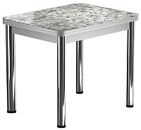 Обеденный стол Васанти Плюс ПРФ 90x70/140 РШ/ОА (хром/117) -