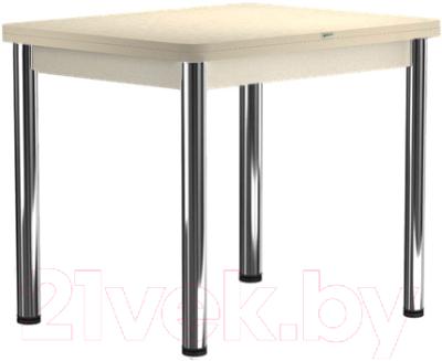Обеденный стол Васанти Плюс ПРД 80x60/120 РШ/О (бежевый хром/бежевый)