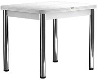 Обеденный стол Васанти Плюс ПРД 80x60/120 РШ/ОБ (хром/белый) -