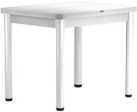 Обеденный стол Васанти Плюс ПРД 80x60/120 РШ/ОБ (белый/белый) -