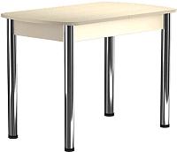 Обеденный стол Васанти Плюс БРП 110/142x70 Р/О (бежевый хром/бежевый) -