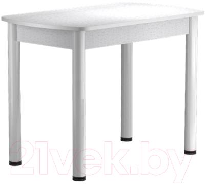 Обеденный стол Васанти Плюс БРП 110/142x70 Р/ОБ (белый/белый)