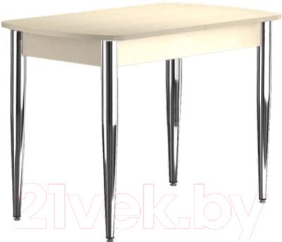 Обеденный стол Васанти Плюс БРП 100/132x60/1Р/О (бежевый хром/бежевый)