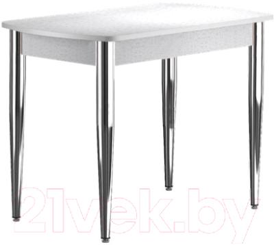 Обеденный стол Васанти Плюс БРП 100/132x60/1Р/ОБ (хром/белый)