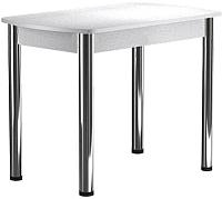Обеденный стол Васанти Плюс БРП 100/132x60 Р/ОБ (хром/белый) -