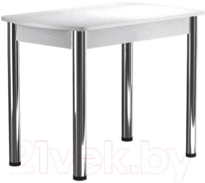 Обеденный стол Васанти Плюс БРП 100/132x60 Р/ОБ (хром/белый)