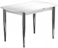 Обеденный стол Васанти Плюс БРП 100x60/3К/ОБ (хром/белый) -