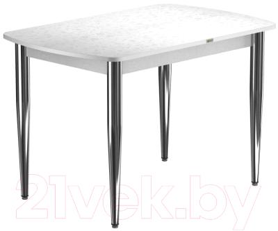Обеденный стол Васанти Плюс БРП 100x60/3К/ОБ (хром/белый)