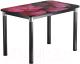 Обеденный стол Васанти Плюс Классик 120/178x80/ОЧ (черный/хром/71) -