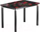 Обеденный стол Васанти Плюс Классик 120/178x80/ОЧ (черный/хром/104) -