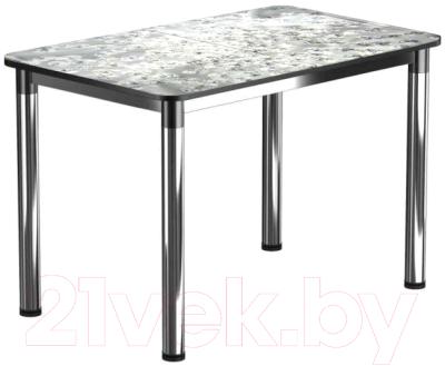 Обеденный стол Васанти Плюс Классик 120/178x80/ОХ (черный/хром/117)