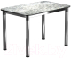 Обеденный стол Васанти Плюс Классик 120/178x80/ОХ (черный/хром/117) -
