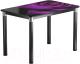 Обеденный стол Васанти Плюс Классик 110/158x70/ОЧ (черный/хром/99) -