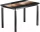 Обеденный стол Васанти Плюс Классик 110/158x70/ОЧ (черный/хром/112) -