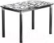Обеденный стол Васанти Плюс Классик 110/158x70/ОЧ (черный/хром/122) -