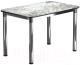 Обеденный стол Васанти Плюс Классик 110/158x70/ОХ (черный/хром/117) -