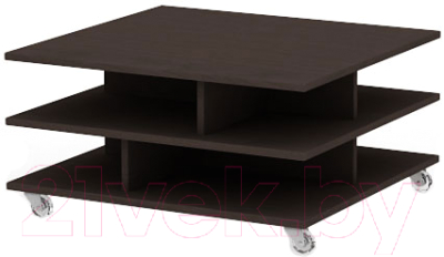 Журнальный столик 3Dom Слим-Практик СП38М (каштан венге)