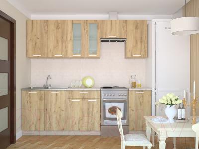 Готовая кухня Интерлиния Мила 18 (дуб золотой)