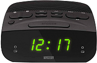 Радиочасы Mystery MCR-23 (черный/зеленый) -