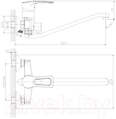 Смеситель Rossinka Silvermix T40-34