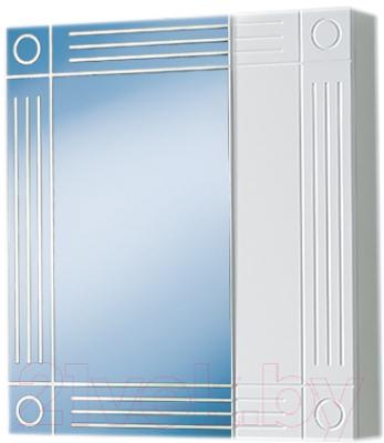 Шкаф с зеркалом для ванной Акваль Оливия 60 / EO.04.60.00.N