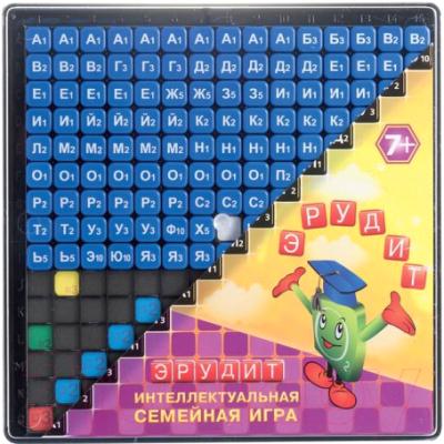 Настольная игра Биплант Эрудит. Синие фишки / 10012