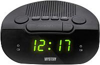 Радиочасы Mystery MCR-21 (черный/зеленый) -