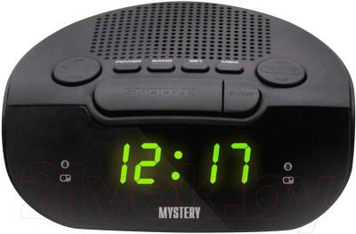 Радиочасы Mystery MCR-21 (черный/зеленый)