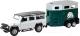 Масштабная модель автомобиля RMZ City Land Rover Defender с прицепом 544006-2TG (A)  -