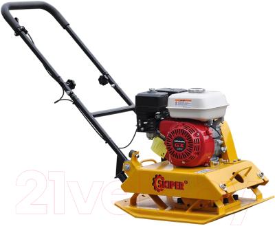 Виброплита Skiper С120 (Honda GX200, колеса)