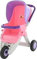 Коляска для куклы Полесье Прогулочная 3 колеса / 48127 (розовый/фиолетовый) -