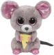Мягкая игрушка TY Beanie Boo`s Мышонок Squeaker с кусочком сыра / 36192 -