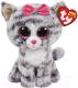 Мягкая игрушка TY Beanie Boo's Кошка Kiki / 37190 (серый) -