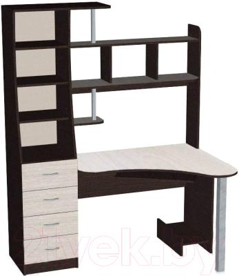 Компьютерный стол Мебель-Класс Символ (венге/дуб шамони, левый)