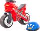 Каталка детская Полесье Мотоцикл МХ со шлемом / 46765 -