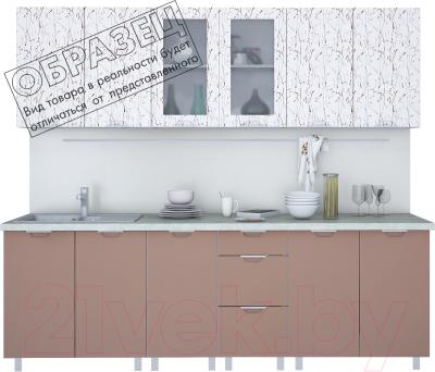Готовая кухня Интерлиния Арт Мила 26  (арт шоколад)