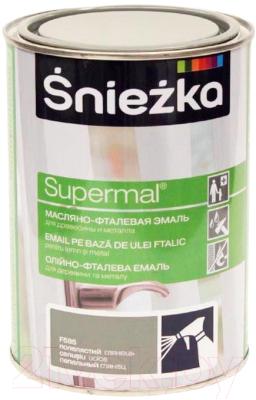Эмаль Sniezka Supermal масляно-фталевая (800мл, пепельный)