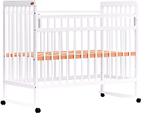 Детская кроватка Bambini Euro Style М / 01.10.03 (белый) -