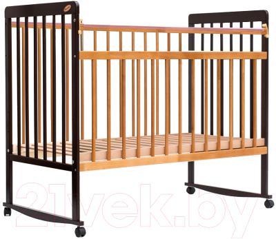 Детская кроватка Bambini Euro Style М 01.10.03 (темный орех/натуральный)