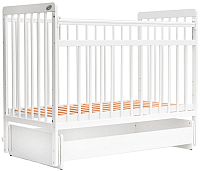 Детская кроватка Bambini Euro Style М / 01.10.05 (белый) -