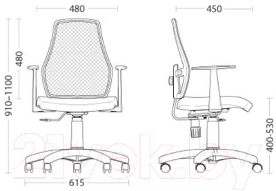 Кресло офисное Nowy Styl Fox 12 + GTP (OH/5 FJ-5 Q)