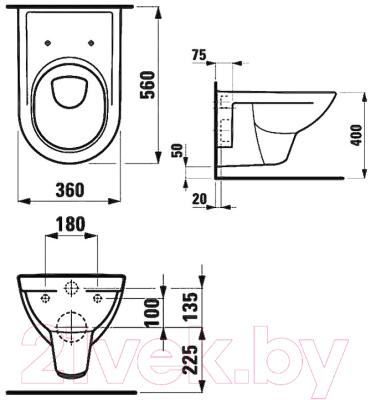 Унитаз подвесной Laufen Pro 82095 + 891951