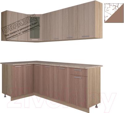 Готовая кухня Интерлиния Арт Мила 14x21 (арт шоколад)