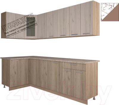 Готовая кухня Интерлиния Арт Мила 14x24 (арт шоколад)