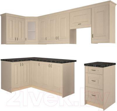 Готовая кухня Интерлиния Мила Шале 12x28 (ясень крем)