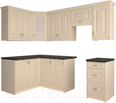 Готовая кухня Интерлиния Мила Шале 14x24 (ясень крем)