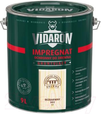 Защитно-декоративный состав Vidaron Impregnant V01 Бесцветный (9л)